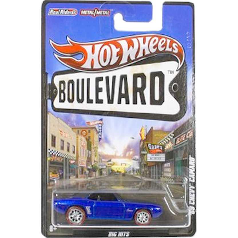 Hot Wheels Boulevard 69 Chevy Camaro W4641 escala 1/64 raridade com pneus de borracha