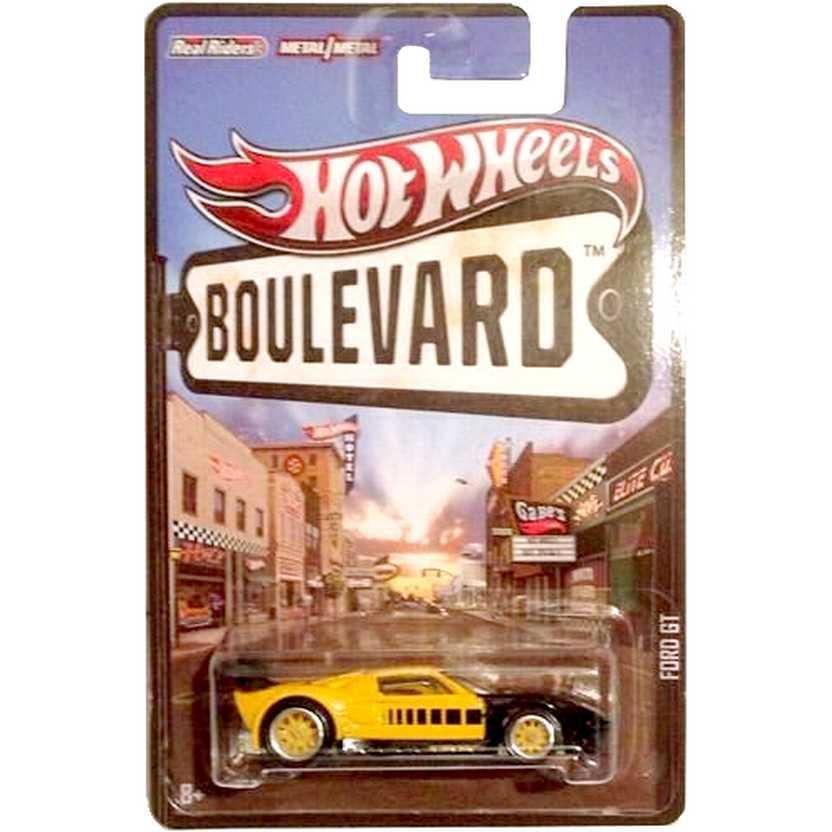 Hot Wheels Boulevard Ford GT escala 1/64 X8292 com pneus de borracha