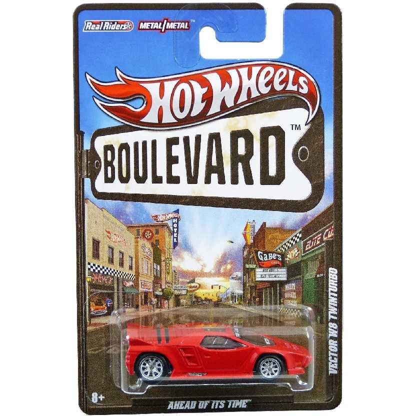 Hot Wheels Boulevard Vector W8 Twinturbo W4631 escala 1/64 raro com pneus de borracha