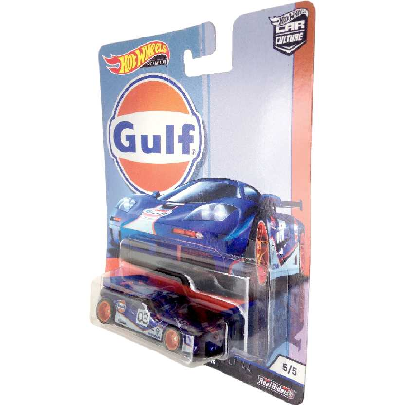 Hot Wheels Car Culture Gulf McLaren F1 GTR series 5/5 TPN1 Real Riders escala 1/64