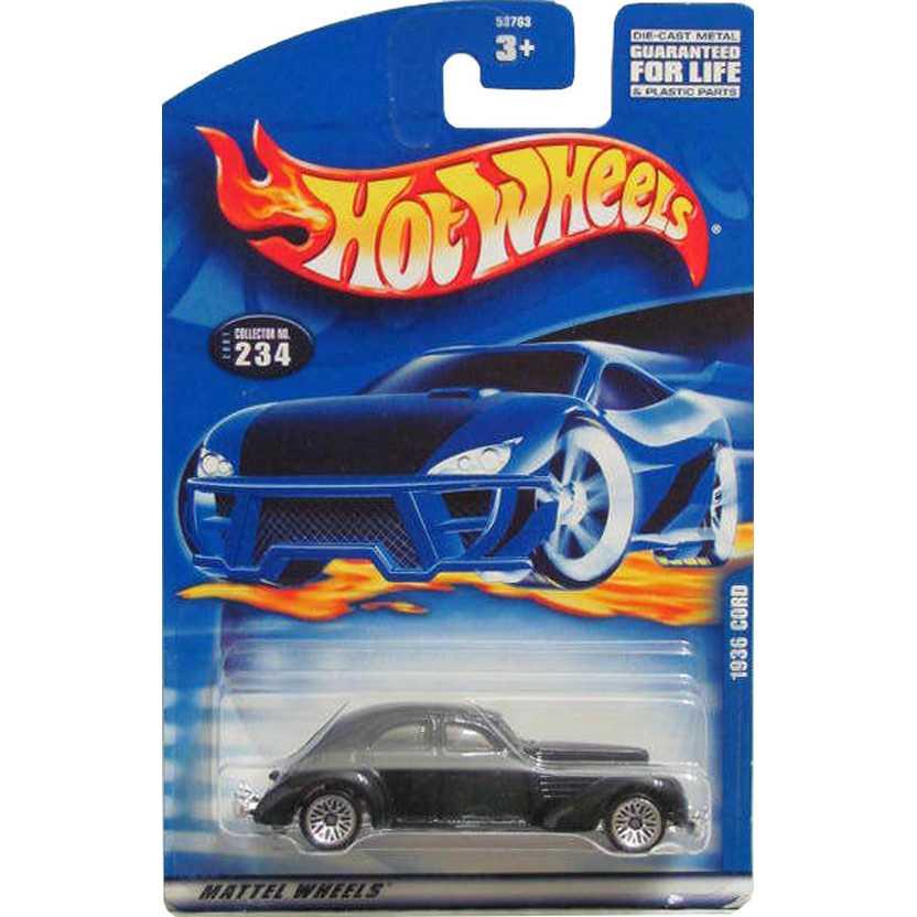 Hot Wheels catálogo 2001 1936 Cord 53763 #234 escala 1/64