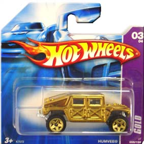 Hot Wheels Catálogo 2007 Humvee GOLD K7572 series 03/04 055/156