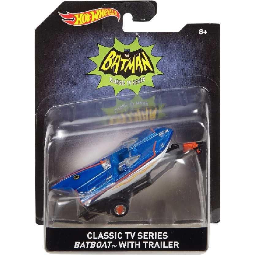 Hot Wheels Classic TV series Batboat with trailer escala 1/50 DKL25-0910
