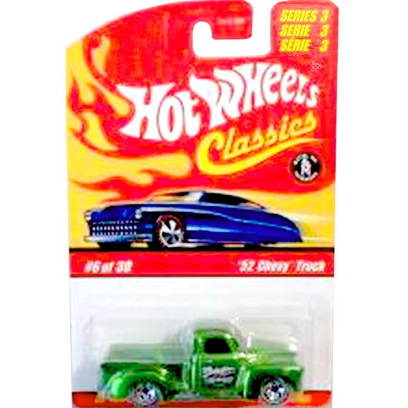 Hot Wheels Classics 52 Chevy Truck Pickup verde L0734 series 3 6/30 escala 1/64