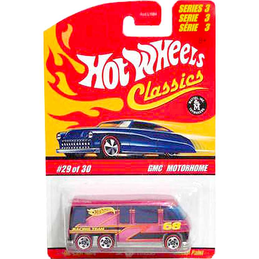 Hot Wheels Classics GMC Motorhome L0757 pink / rosa series 3 escala 1/64