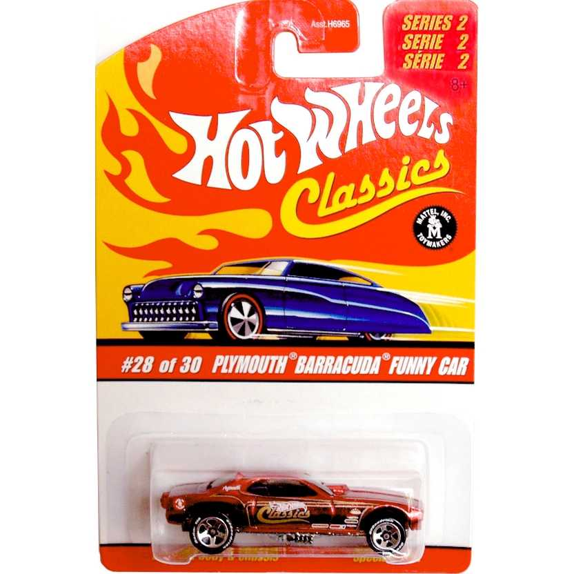 Hot Wheels Classics Plymouth Barracuda Funny Car series 2 2/30 J2784 escala 1/64