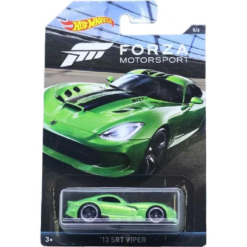 Hot Wheels Coleção Forza Motorsport 13 SRT Viper series 5/6 DWF36 escala 1/64
