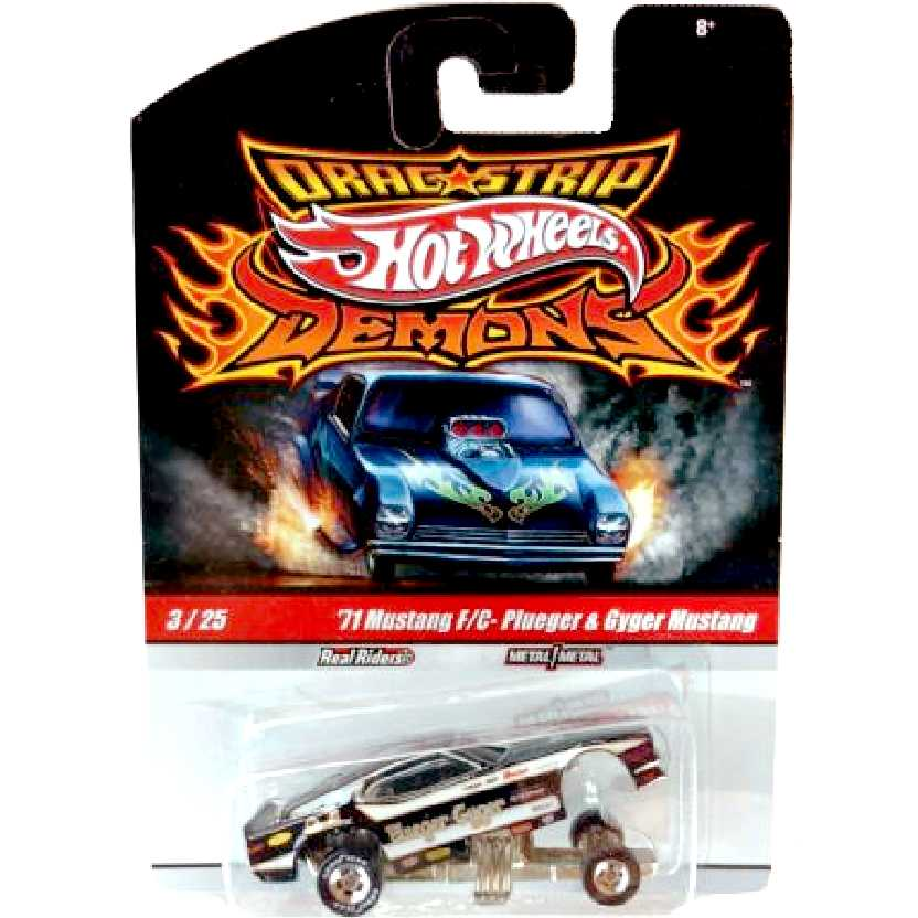 Hot Wheels Drag Strip Demons 71 Mustang Plueger e Gyger F/C R3825 #3/25 escala 1/64