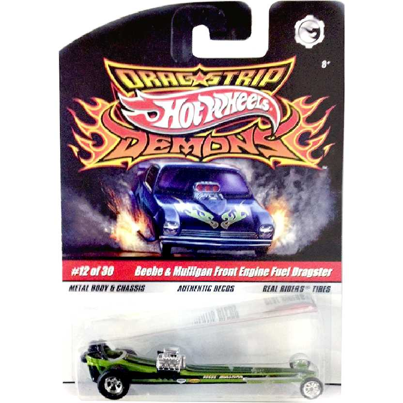 Hot Wheels Drag Strip Demons Beebe & Mulligan Front Engine Dragster 12/30 N8962 escala 1/64