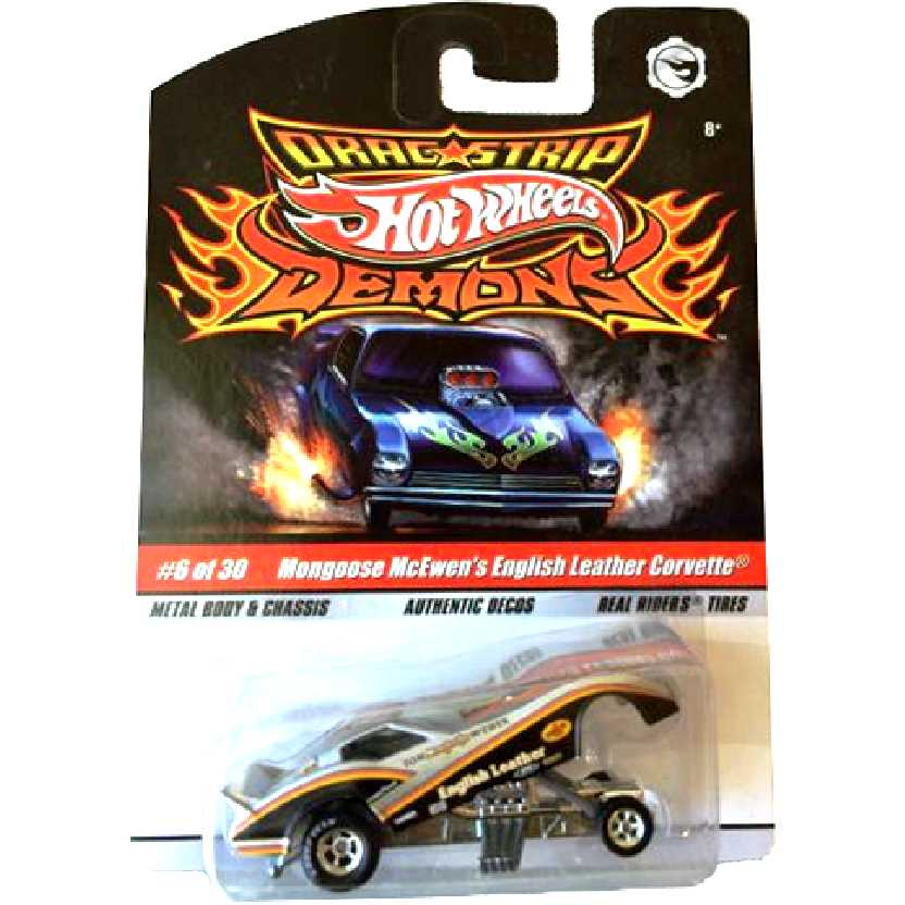 Hot Wheels Drag Strip Demons Mongoose McEwens E. L. Corvette N8967 #6/30 escala 1/64
