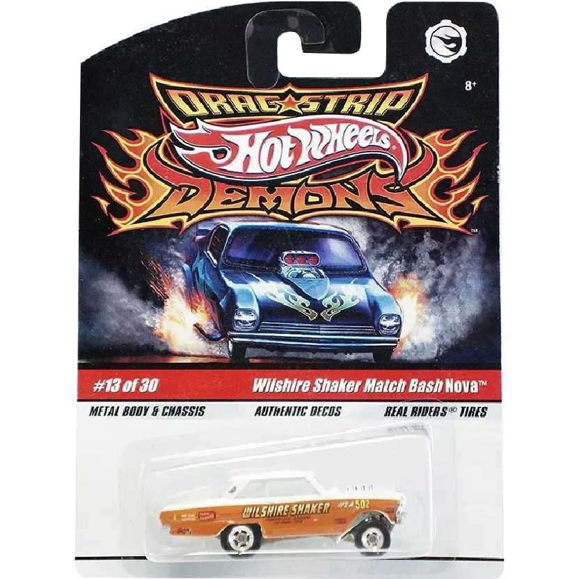 Hot Wheels Drag Strip Wilshire Shaker Match Bash Nova 13/30 N8972 escala 1/64