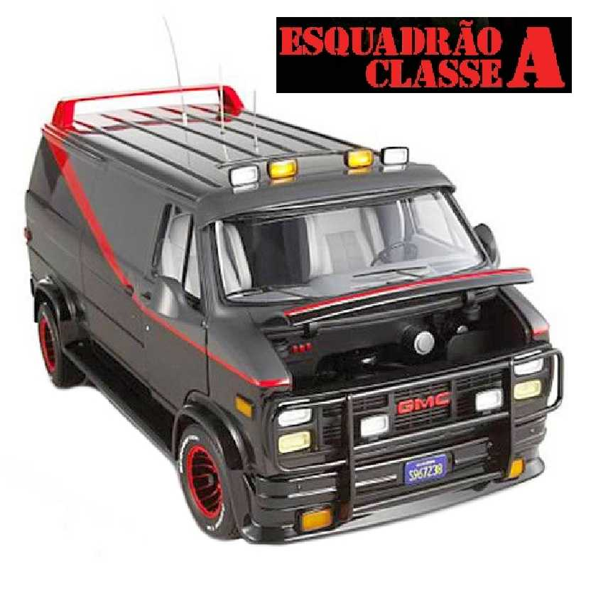 3e1c2f555 Hot Wheels Elite A-Team GMC Vandura Furgão do Esquadrão Classe A escala 1