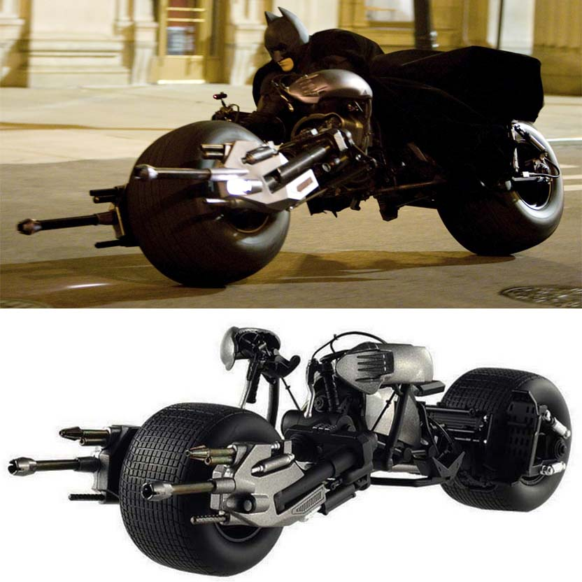 Hot Wheels Elite Batman The Dark Knight Trilogy Movie Bat-Pod escala 1/18 x5471 Batpod