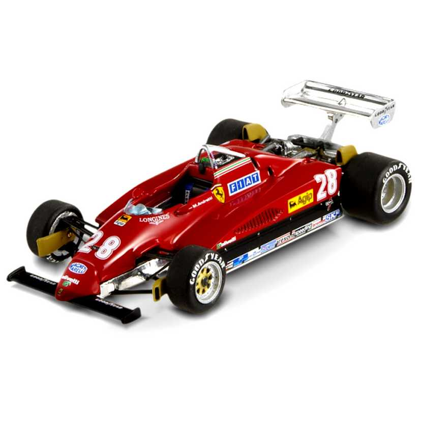 Hot Wheels ELITE Ferrari 126 C2 Mario Andretti (1982) T6939 Italy GP Pole Position