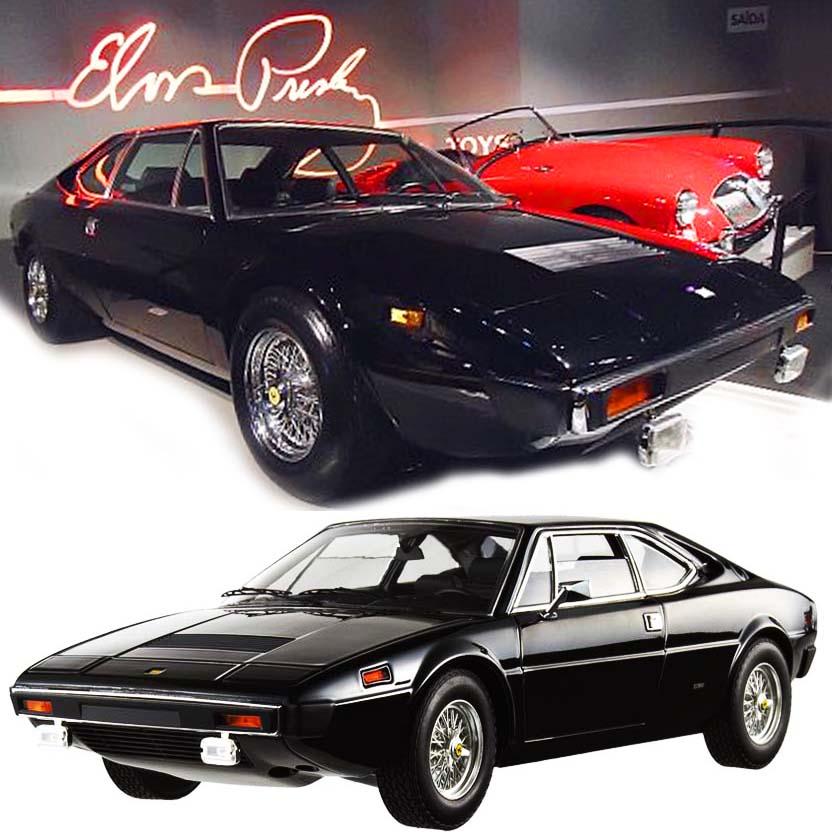 Hot Wheels Elite Ferrari Dino 308 GT4 Elvis Presley Experience Brasil escala 1/18 V7425
