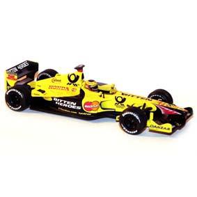 Hot Wheels Fórmula 1 diecast Jordan Honda EJ11 Jarno Trulli 2001 escala 1/43