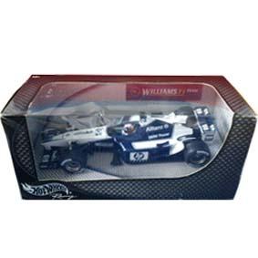 Hot Wheels F1 Williams FW23 Juan Pablo Montoya (2001) capacete cromado escala 1/24