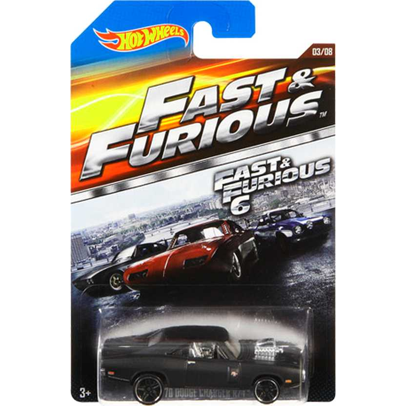 Hot Wheels Fast & Furious 1970 Dodge Charger R/T Velozes e Furiosos CMJ23 03/08 escala 1/64