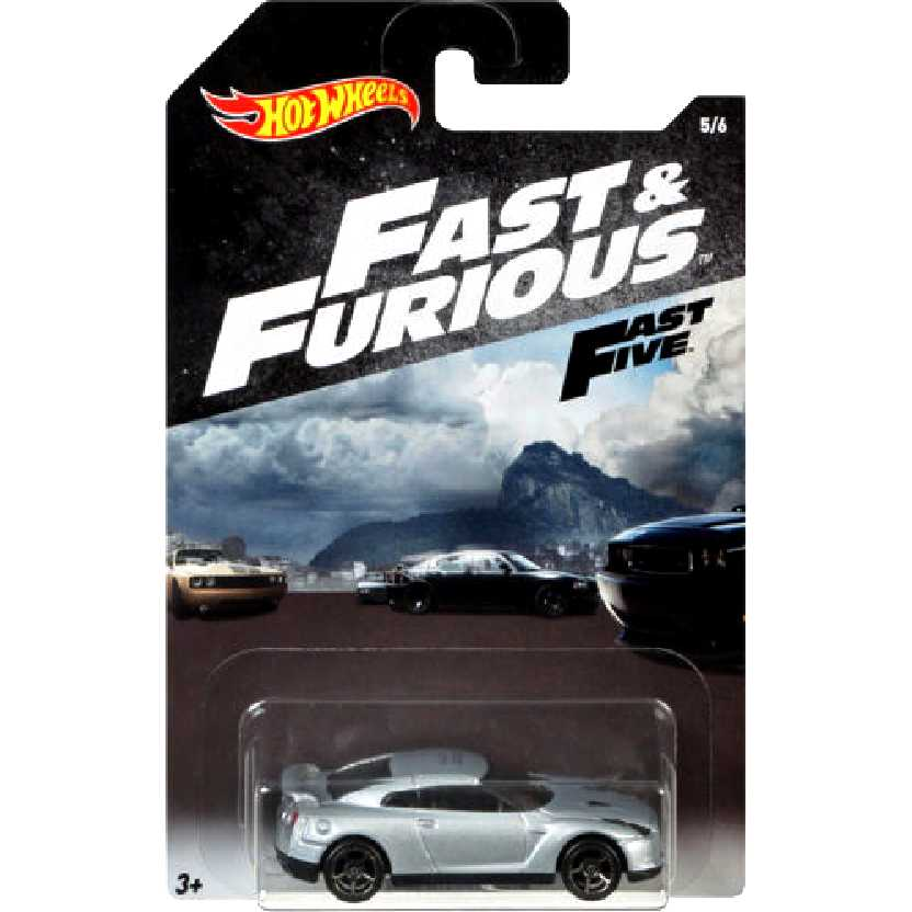 Hot Wheels Fast & Furious 2009 Nissan GT-R (R35) Fast Five 5/6 FKF14 escala 1/64