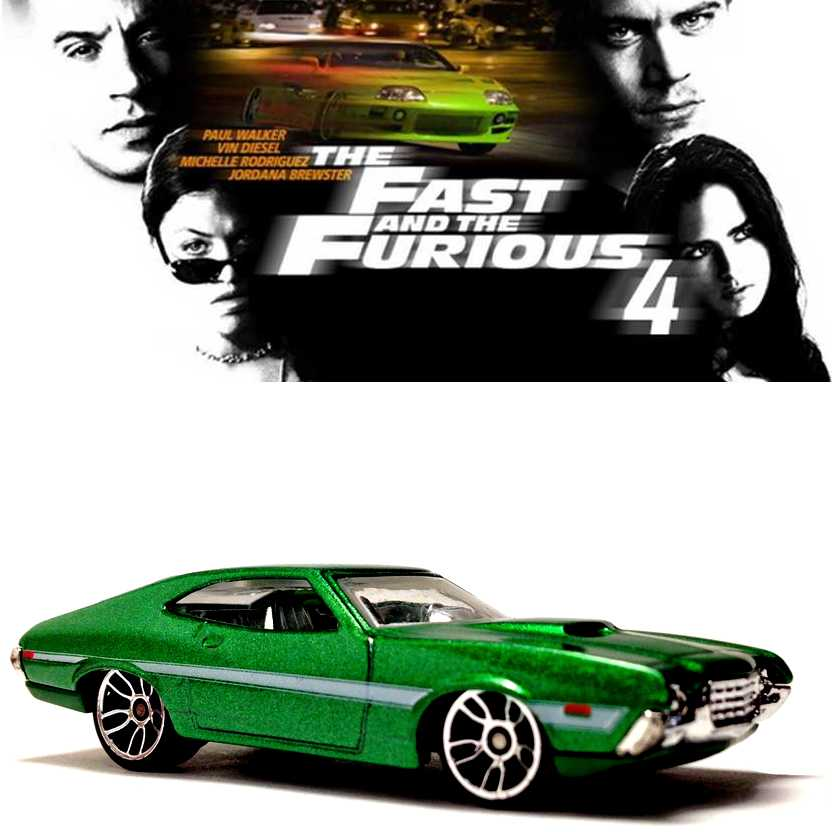 Hot Wheels Fast & Furious 4 1972 Ford Gran Torino Sport escala 1/64 CDR62 5/8 Y2126