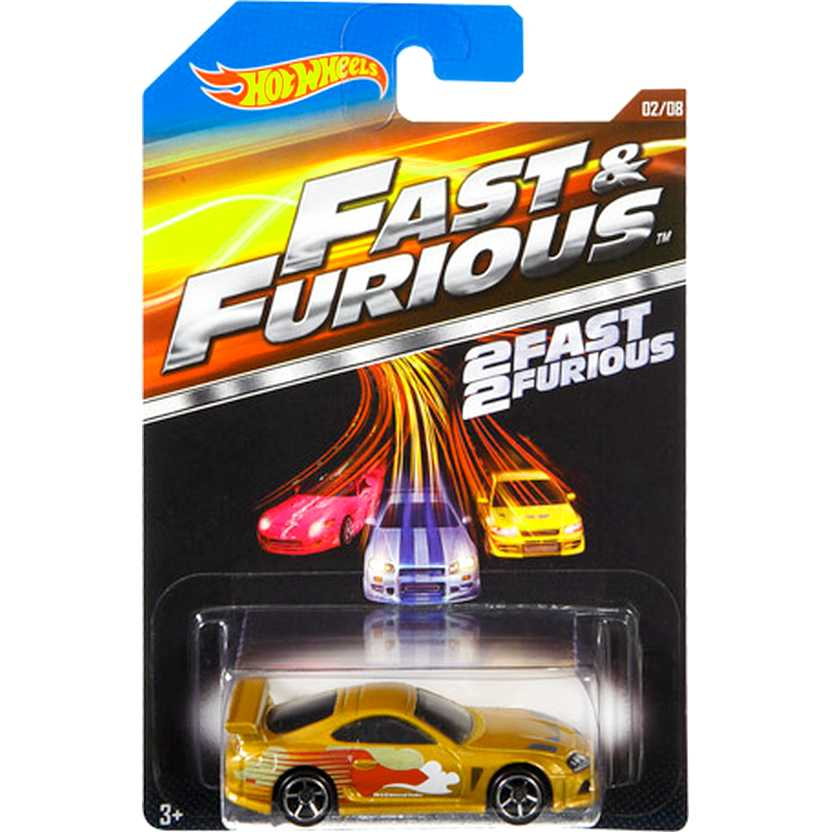 Hot Wheels Fast and Furious 1994 Toyota Supra Velozes e Furiosos CMJ22 02/08 escala 1/64