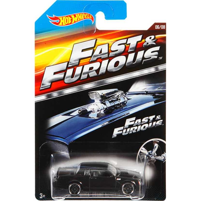 Hot Wheels Fast and Furious Buick Grand National Velozes e Furiosos CJL36 06/08 escala 1/64