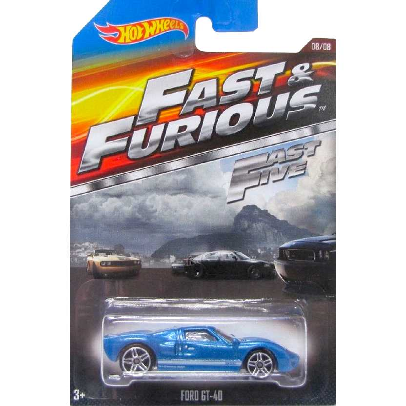 Hot Wheels Fast and Furious Ford GT-40 Velozes e Furiosos 5 CJL38 series 08/08 escala 1/64