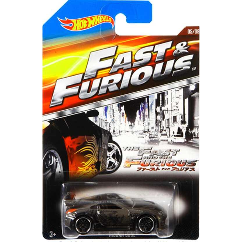 Hot Wheels Fast and Furious Nissan 350Z Velozes e Furiosos CJL34 series 05/08 escala 1/64
