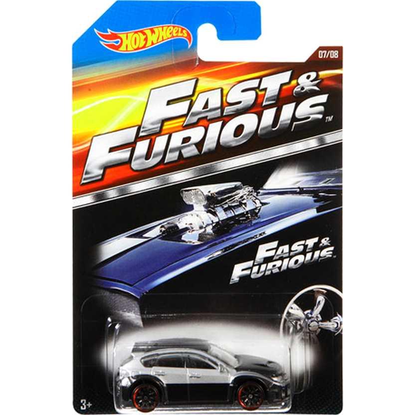 Hot Wheels Fast and Furious Subaru WRX STI Velozes e Furiosos CJL37 07/08 escala 1/64