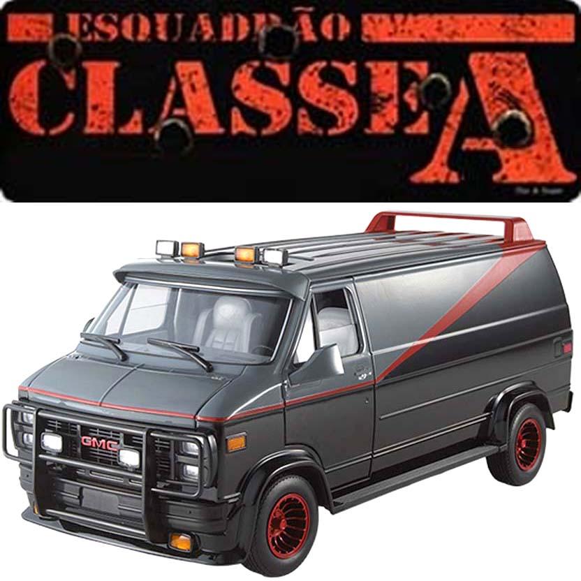 Hot Wheels Furgão do Esquadrão Classe A : The A Team Van X5531 escala 1/18