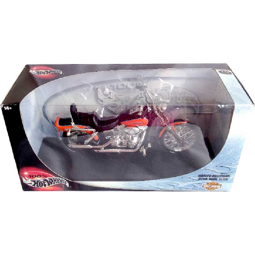 Hot Wheels Harley-Davidson Dyna Wide Glide escala 1/10 50462