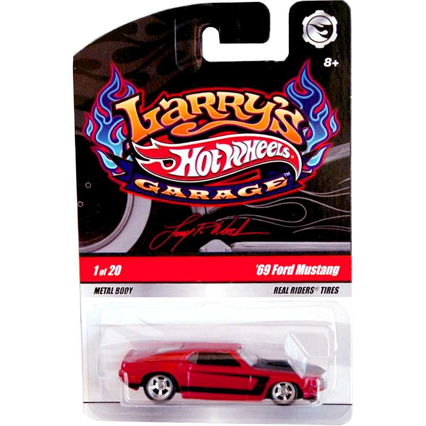 Hot Wheels Larrys Garage - 69 Ford Mustang N9045 1/20 escala 1/64 pneus de borracha