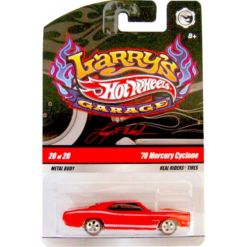 Hot Wheels Larrys Garage - 70 Mercury Cyclone N9064 20/02 escala 1/64 pneus de borracha