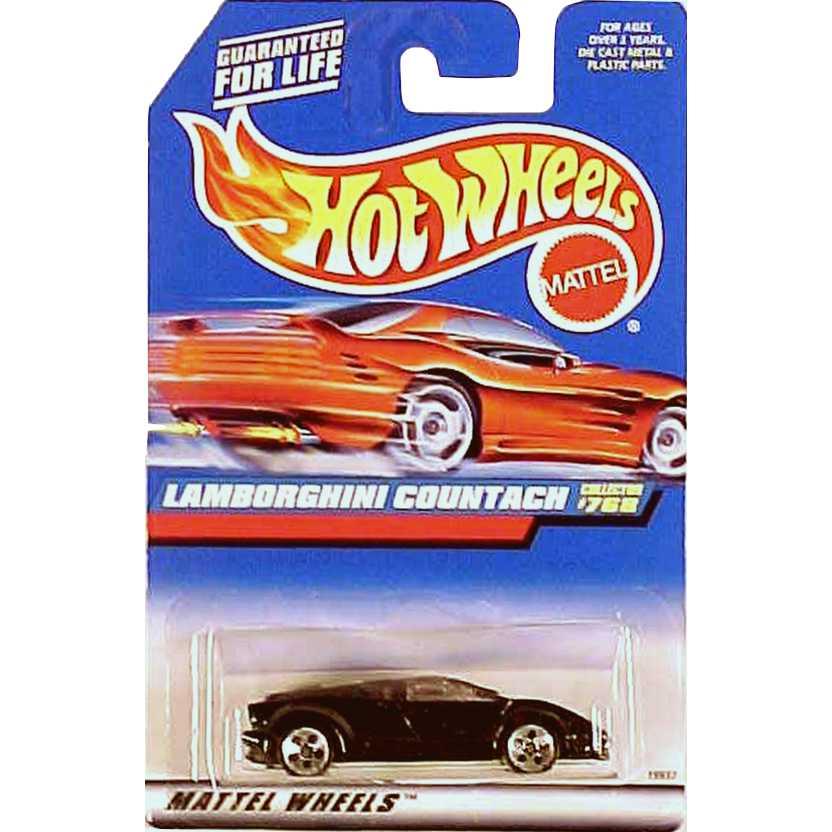Hot Wheels linha 1998 Lamborghini Countach - collector #768 - 19937
