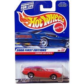 Hot Wheels Linha 2000 Miniatura da Ferrari 365 GTB/4 23928 series 1/36