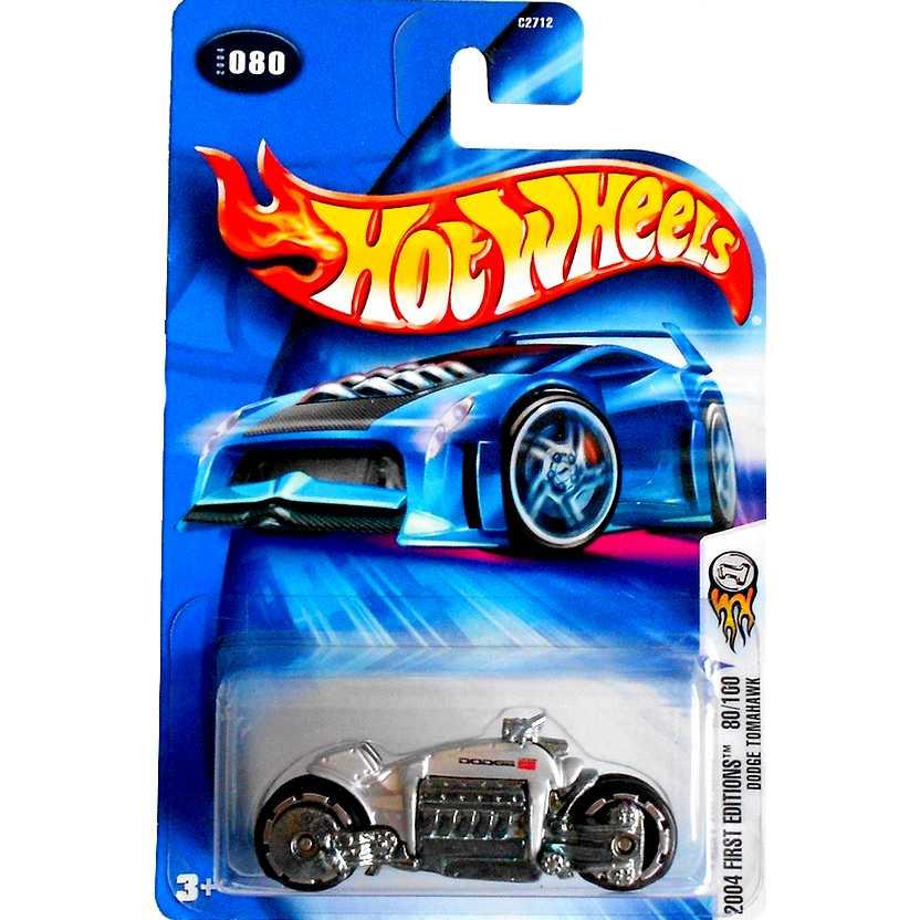 Hot Wheels linha 2004 Dodge Tomahawk prata C2712 #080 80/100 escala 1/64