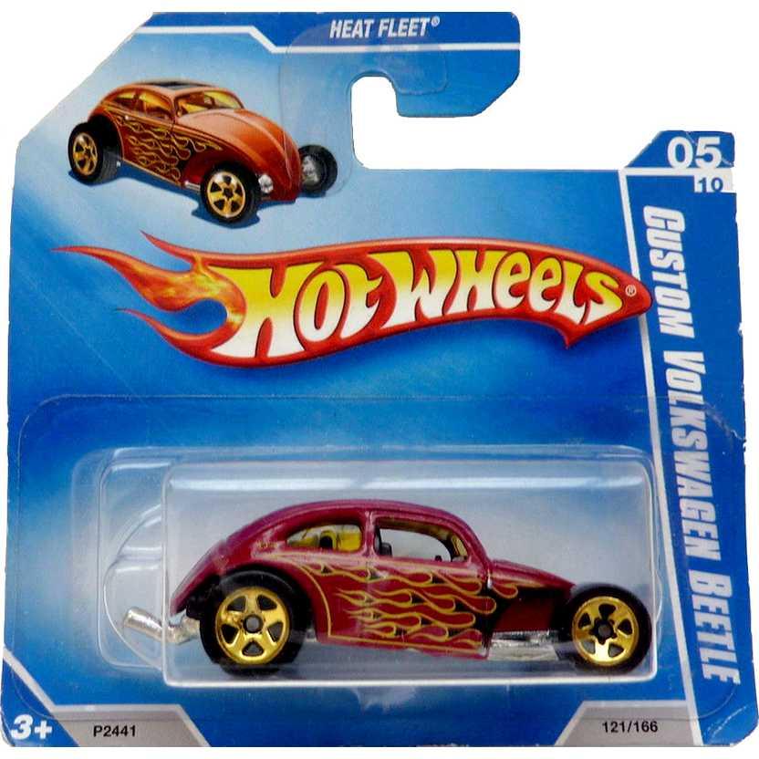 Hot Wheels linha 2009 Custom Volkswagen Beetle VW Fusca P2441 05/10 121/166