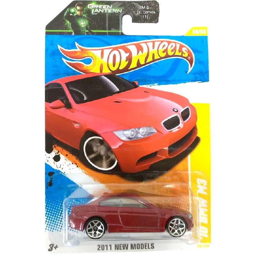 Hot Wheels linha 2011 10 BMW M3 Vermelha (2010) T9980 escala 1/64