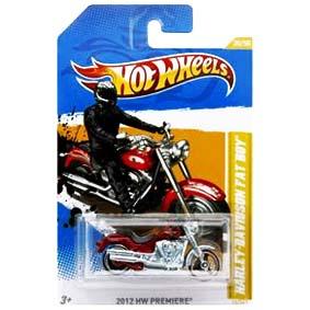 Hot Wheels Linha 2012 Harley-Davidson Fat Boy V5616 30/50 30/247 escala 1/64