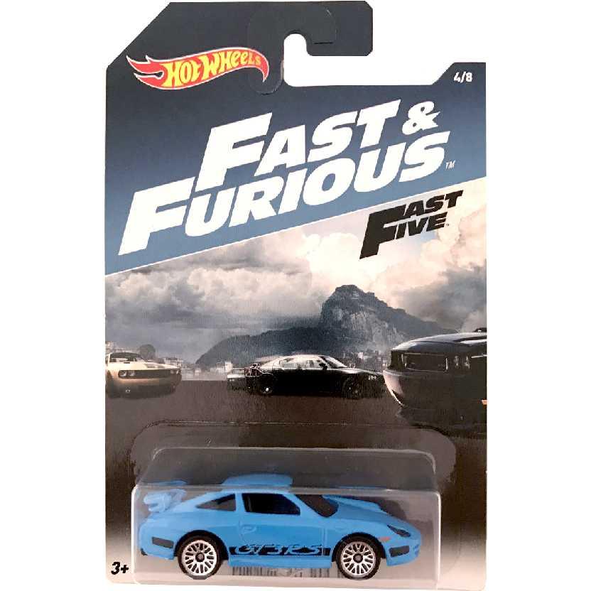 Hot Wheels Porsche 911 GT3 RS Velozes e Furiosos 5 Fast And Furious 5 4/8 DWF74 escala 1/64