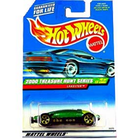 Hot Wheels Poster 2000 T-Hunt Treasure Hunt Lakester 26375 series 5/12