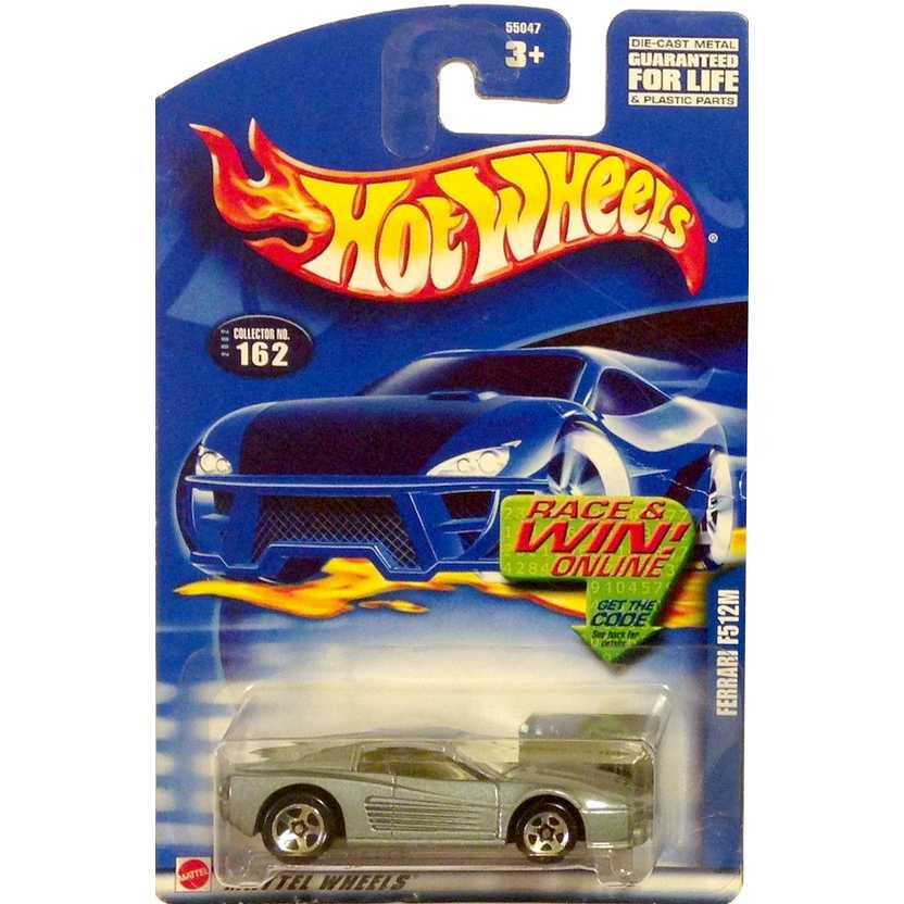 Hot Wheels poster 2002 Ferrari 512M 55047 #162 escala 1/64