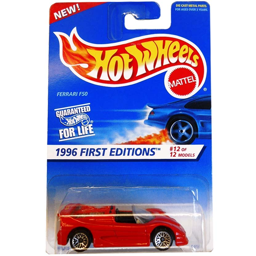 Hot Wheels Poster 2006 First Editions Ferrari F50 collector #377 14917 12/12