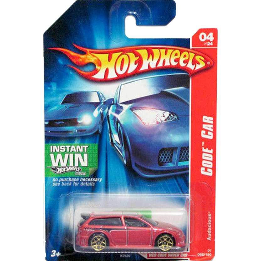 Hot Wheels poster 2007 Audacious Code Car K7639 04/24 088/180 escala 1/64