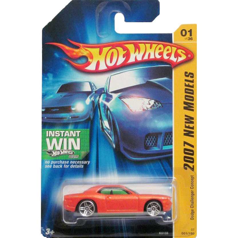 Hot Wheels poster 2007 Dodge Challenger Concept K6133 01/36 001/180 escala 1/64