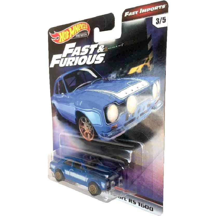 Hot Wheels Premium Fast Furious 6 Ford Escort RS 1600 3/5 TPN6 1/64