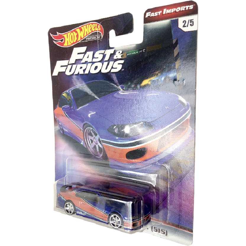 Hot Wheels Premium Fast Furious Velozes e Furiosos Nissan Silvia (S15) 2/5 TPN10 escala 1/64