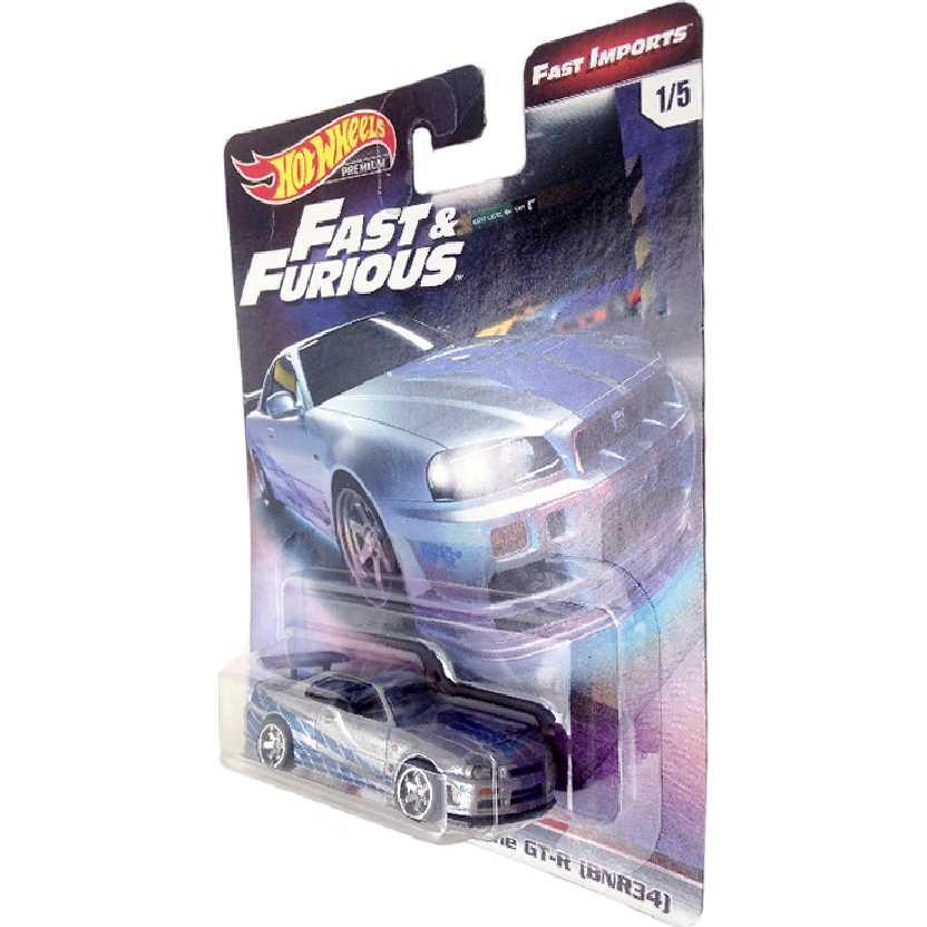 Hot Wheels Premium Fast Furious Velozes e Furiosos Nissan Skyline GT-R BNR34 1/5 TPN2 1/64