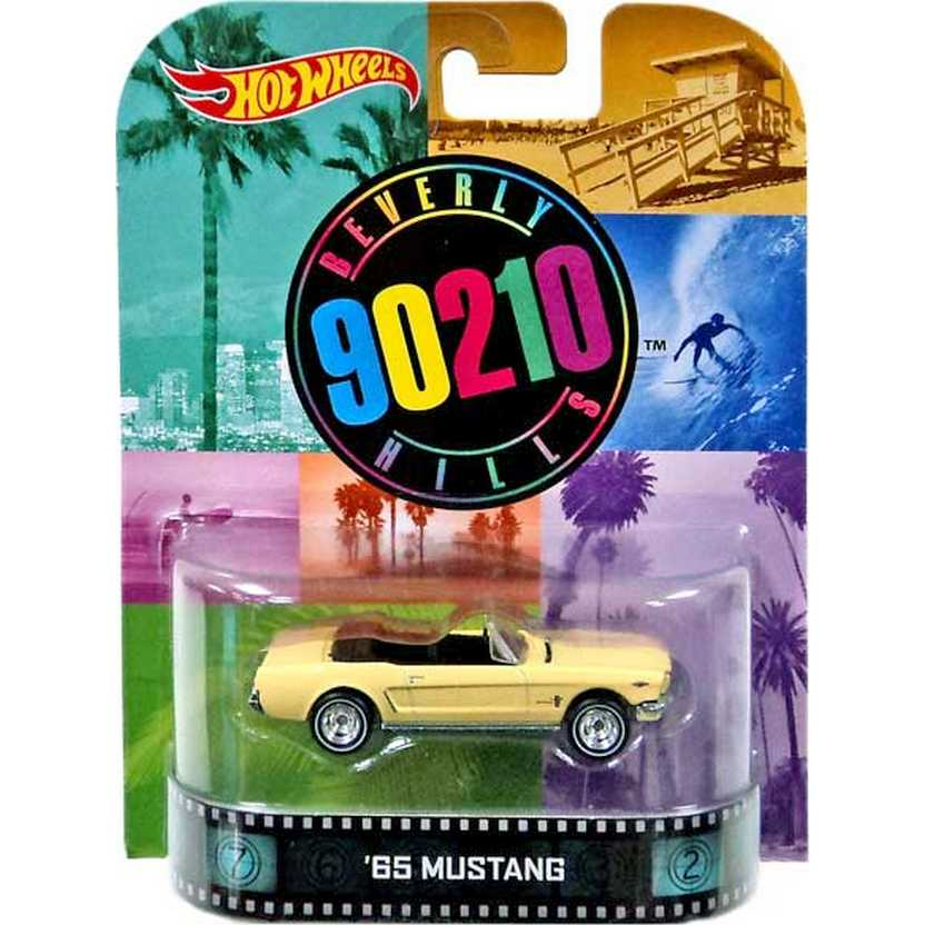 Hot Wheels Retro Barrados no Baile (90210 Beverly Hills) 65 Mustang escala 1/64 BDT99