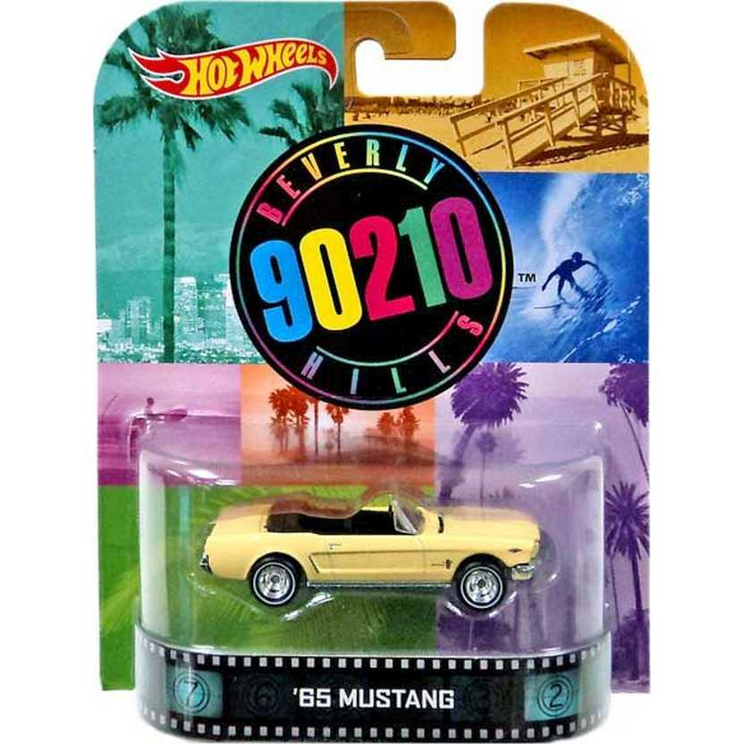 Hot Wheels Retro Barrados no Baile (90210 Beverly Hills) 65 Mustang escala 1/64 BDT99